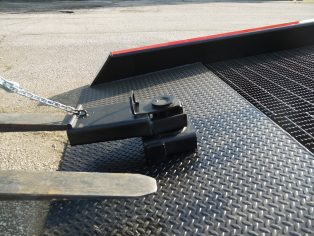 positioning sleeve on mobile yard ramp