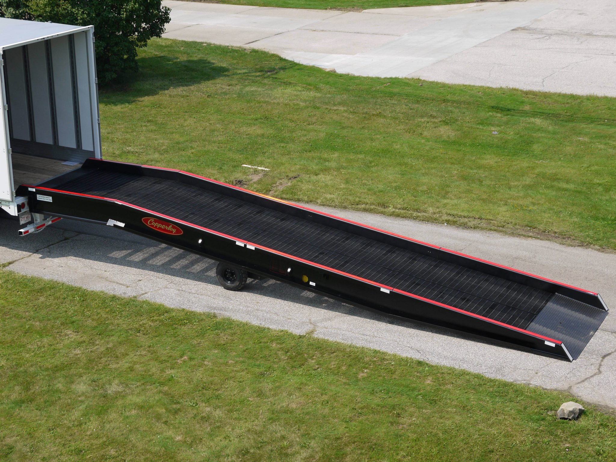 Heavy duty portable yard ramps