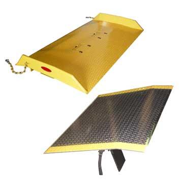 Durable Dockboards of Steel or Aluminum Construction
